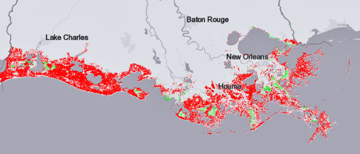 Interactive map shows flooding risk as Gulf rises and southern Louisiana continues to sink | The Lens